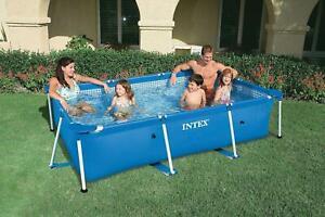 Rectangular Swimming Pool Framed | Kids Family Summer Outdoor Fun Garden Intex