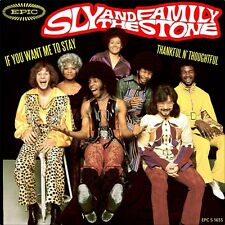 """7"""" SLY & THE FAMILY STONE If You Want Me To Stay/Thankful n'Thoughtful EPIC 1973"""