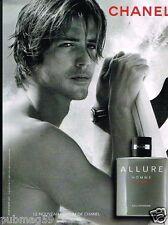 Publicité advertising 2012 Parfum Homme Sport  Allure de Chanel
