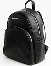 Michael Kors rucksack tasche abbey backpack leder schwarz silber neu