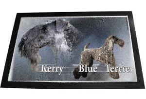Designer Fußmatte Kerry Blue Terrier Blauer Irischer Terrier Hundeteppich 80x60
