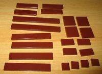 Lego Basic - 22 Fliesen Platten - in verschiedene Größen - in neu Braun