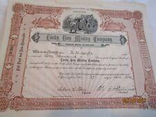 1904 Lucky Boy Mining Company Stock Certificate - Arizona