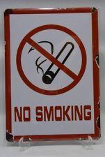 NO SMOKING INTERDICTION DE FUMER plaque métal sérigraphie 21x15 cm NEUF