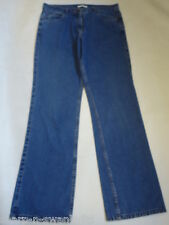 Ladies Blue Denim Straight Leg Jeans Trousers UK 12L EU 40 W30 L32