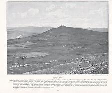 1897 Vittoriano stampa ~ rorke's DRIFT Sudafrica Fattoria ~ isandhlwana PAESAGGIO