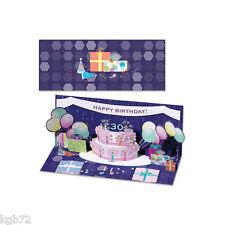3D Balloon & Cake  Pop Up Card Panoramic Greeting Card Up With Paper Panoramics