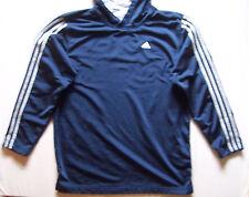 youth Boys ADIDAS fitness hoodie Sz XL 18 - 20 track soccer gym running jacket
