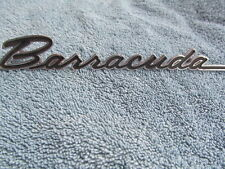 1967 Plymouth Barracuda NOS Front Fender Emblem
