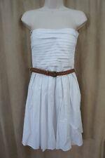B. Darlin Juniors Dress Sz 9 / 10 White Cotton Strapless Pleated Tea Dress