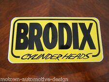 BRODIX CYLINDER HEADS DECAL STICKER RAT ROD GASSER SUPER STOCK PRO COMP NHRA