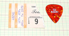 Ted Nugent  ticket stub and guitar pick  1-9-1979 Birmingham, Alabama #00242