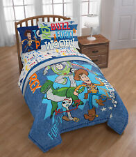 Disney Toy Story 4 Twin/Full Comforter Set W/ Woody, Buzz, Forky and Rex