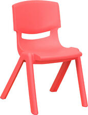 """(6 Pack) Strawberry Plastic Stackable Preschool Activity Chair 12"""" Seat Heig 00006000 ht"""