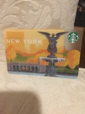 Central Park Bethesda Angel Largest Fountain New York City Starbucks Gift Card