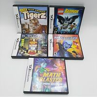 Nintendo DS Games Lot 5 Megamind Master Blaster Lego Batman Pets Tigerz Hotel