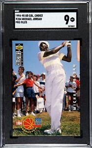1994-95 Upper Deck Collector's Ch. Michael Jordan #204 Golf, 9 Mint, SGC