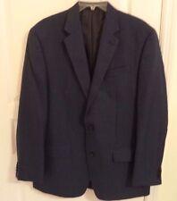 Michael Kors Men's Smoky Blue Gray Plaid Check Sport Coat Blazer Jacket 42L Long