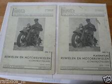 RIJWIELEN EN MOTORRIJWIELEN CONSTRUCTIE LEER INCLUSIEF PLATENATLAS 1938