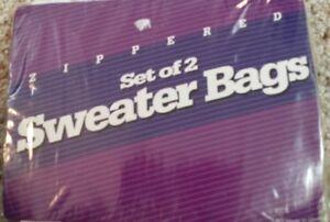 Set 2 Sweater Plastic Zippered Storage Bags