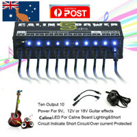CP-05 10CH Guitar Pedal Board Effect Caline Power Supply 9V/12V Output Isolated