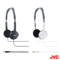 JVC HAL50 FOLDABLE LIGHTWEIGHT STEREO ON-EAR HEADPHONES - BLACK & WHITE
