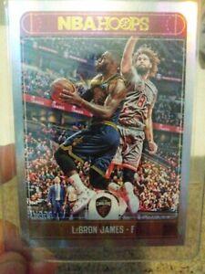 2017/18 NBA Hoops LeBron James #25 Silver Holo /199