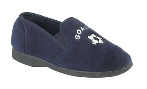 Boys Football Slippers Boys Slippers Junior Slippers Comfy Navy Size 11 - 6 UK