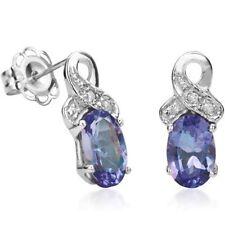 Ohrringe/Ohrstecker Jamie, 925er Silber, 0,87 Kt. echter Tanzanit/Diamant