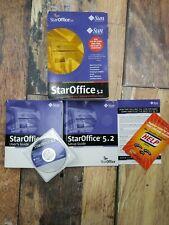 Sun Microsystems StarOffice 5.2 Multi-Platform Office Suite Windows Linux CD-ROM