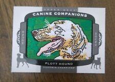 2018 Ud Goodwin Champions Plott Hound Canine Companions Patch Card #Cc153 1:267