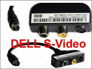 --NEU--   Dell Inspiron/Latitude TV Audio S-Video TV-Out Kabel  DP/N 044CTV