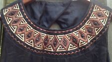 Carole Little Dress Size 6 Black With Wooden Beading