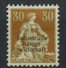 Switzerland 1918 SG#O307, 30c Pale Green & Yellow-brown Official MH  #A68183