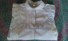 H&M blue frill yoke stripe dot blouse, shirt 16/18