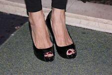 Sexy impresionante atmospere Negro Patente Stilleto zapatos talla 5 Usados En Caja