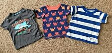 CARTER'S BOYS 18 MONTH SHORT SLEEVE PRINTED TEES! LOT OF 3! 100% COTTON! NICE!