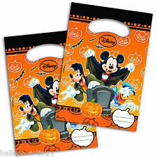 6 Halloween Disney Mickey Mouse Party Disposable Plastic Gift Favour Loot Bags