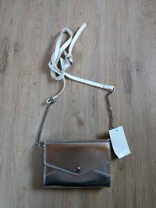 Handtasche silber neu C&A