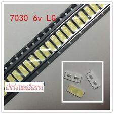 100PCS LG LED Diode SMD 7030 6V 1W Cool White 90LM for Sharp Vizio TV Backlight