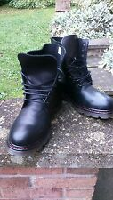 mens black leather boots dm style 8 eyelet sizes 7-12 new in box