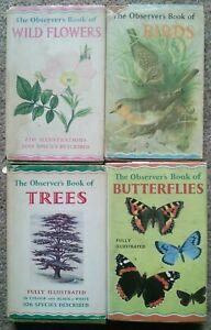 Vintage Observers Book of Birds, Wildflowers, Butterflies, Trees. Warne 1960's