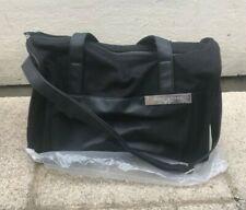 Black Issey Miyake Parfums Travel Bag Medium Size lined Leather Suede