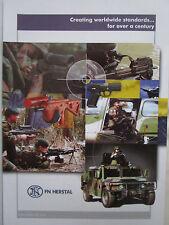 10/2006 PUB FN HERSTAL BELGIQUE ARMEE DEFENSE ARMEMENT MINIMI SNIPER ORIGINAL AD