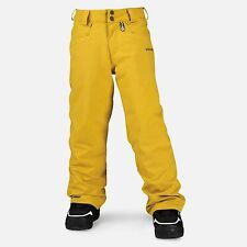 2015 NWT BOYS VOLCOM LEGEND INSULATED SNOWBOARD PANTS $110 M bronze gold yellow