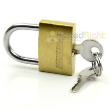 "1"" Inch Padlock With Key Mini Tiny Small Brass Lock Luggage Toolbox Cabinets"