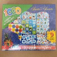 Christmas Holiday Sticker Roll Assortment (1000 Small Santa Snowman Gift)