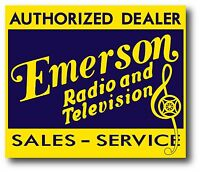 Emerson Radio & Television Sales & Service Decal Sticker Bakelite Catalin