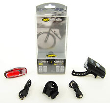 NiteRider Swift 350 Bicycle Headlight + Sabre 50 Taillight USB Combo