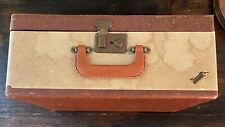 Vintage Vacationer Cream And Brown Suitcase